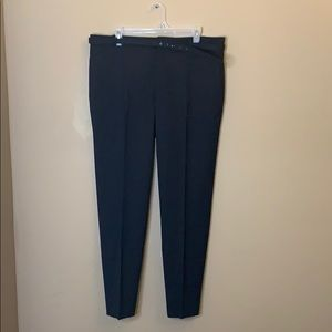 Zara Woman belted black dress pants